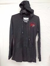 Atlanta Falcons Womens M Harlow Hoodie Lace Up Tunic 072