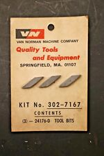 Van Norman 24176-D Carbide Cutting Bits for Drum Cutter Brake Lathe