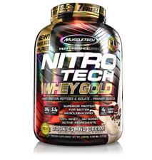 MuscleTech NitroTech Whey Gold, 100% Whey Protein Powder, Vanilla, 5.53 LBS
