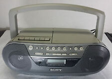 SONY CFD-S05 AM/FM Radio CD Cassette Player Recorder Boombox