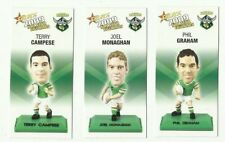 2009 NRL SELECT CANBERRA RAIDERS FIGURINE COLOUR SET 3 CARDS