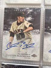 2013 Bowman Inception Prospect Autographs #PA-CBL Clayton Blackburn Auto Card