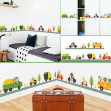 Animal Car Wall Stickers For  Kids Room Children Boy Bedroom Decals Home Decor