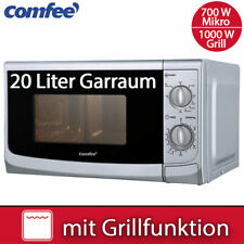 Comfee Kombi Mikrowelle 700 W mit Grill 1000 W Silber Timer Stand Mikro 20 Liter
