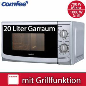 Comfee Kombi Mikrowelle 700 W mit Grill 1000 W Silber Timer Stand Mikro 20 Liter