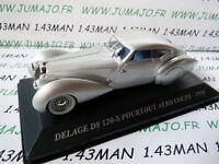 Voiture 1/43 IXO altaya Voitures d'autrefois  DELAGE D8 120-S pourtout Aéro 1938