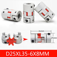 6mm to 8mm Flexible Spider Jaw Coupler Plum Coupling for Stepper D25L35