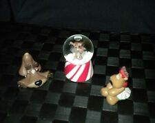 "Hallmark ""3 Piece Boy & Girl Moose"" Merry Miniatures A Collection Of Charm"