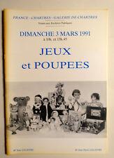 catalogue vente aux enchères Galerie de Chartres JEUX & POUPEES 3/3/1991 Dolls