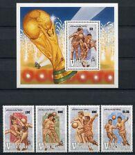 Jungferninseln Virgin Isl. 1990 Fußball WM World Cup Soccer 697-700 + Bl.65 MNH