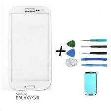 White Replacement Front Screen Glass Len for Samsung Galaxy S III i 9300 + Tools