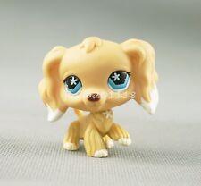 LPS Littlest Pet Shop White Dipped Tan Cocker Spaniel Dog #748 Star Eyes Toys