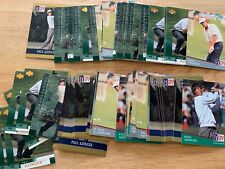 PAUL AZINGER LARGE LOT OF 69 OFFICIAL PGA GOLF COLLECTORS TRADING CARDS