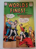 World's Finest #136 DC Comic Book 1963 Silver Age Superman BATMAN Robin 12 cent