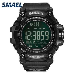 SMAEL Bluetooth Smartwatch Digital Chronograph Waterproof Military Grade