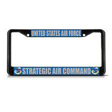 UNITED STATES AIR FORCE STRATEGIC AIR COMMAND  Black Metal License Plate Frame