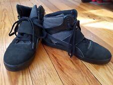 Puma Sport Lifestyle Leather Hi-Top Black Athletic Lace Up Mens Shoes sz 10