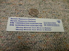 Herald King decals HO Darwin Resource Railway Moving Minerals from Mines  ZZ23
