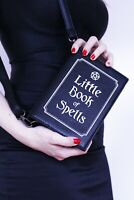 LITTLE BOOK OF SPELLS Magic Witch Craft Pagan Rock Goth Black Handbag Book Bag