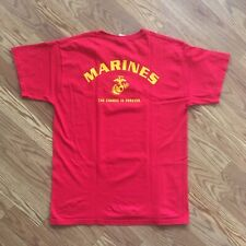 US Marines Marine Corps Red Tshirt Mens Large USMC