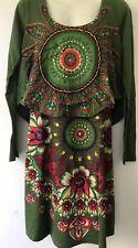 Desigual  Green  & Multi  Dress , UK Size XXL