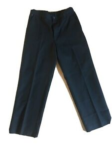 Boys Black M&S Flat Front Trousers. Age 11. New. No Tag