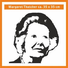 MARGARET THATCHER Wandtatoo, ca. 35 x 35 cm, Hochleistungsfolie m. Montagepapier