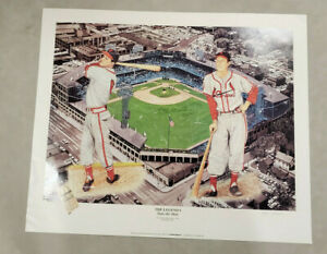 STAN MUSIAL SIGNED AUTO 24x28 LITHO THE LEGEND- NO RESERVE