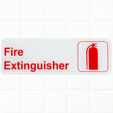 "Fire Extinguisher Sign - White and Red, 9 x 3"" Fire Exit / Fire Safety Signs"