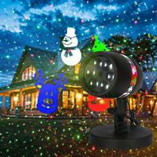 12Dias LED Laser Projektor Garten licht weihnachts Beleuchtung Deko Party Außen