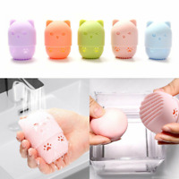 Silicone Puff Holder Beauty Egg Stand Sponge Cosmetic Makeup Display Rack Case