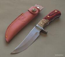 9.5 INCH OVERALL ELK-RIDGE FIXED BLADE FULL TANG HUNTING KNIFE RAZOR SHARP BLADE
