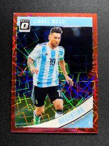 Lionel Messi 2018-19 Panini Donruss Optic 88 Red Velocity Prizm #4/50 Argentina