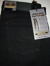 URBAN STAR  Straight Leg Stretch Black RELAXED JEANS 32 X 32 NEW