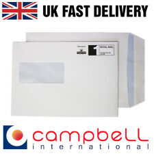 1000 C5 Self Seal White Window Envelopes - 229  x 162mm (Ignore postage paid)