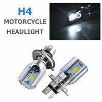 Ampoule LED H4 Moto 6000K Feux de Croisement/Route Phare Avant Lampe 12V Blanc