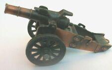 old artillery piece gun novelty die cast metal pencil sharpener 3 inch