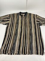 Vintage Cotton Traders 90s Coogi Style S/S 3D Polo Shirt Large Biggie Hip Hop