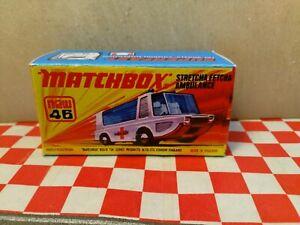 Matchbox Superfast No46 Stretcha Fetcha Ambulance EMPTY Repro Box only   NO CAR