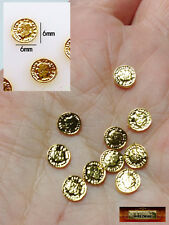 M00686 MOREZMORE 10 Miniature Gold 6mm Coins Metal Money 1:6 Scale Prop