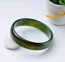Beloved Natural beautiful green jade bracelet bangle big size 60mm  AAAA