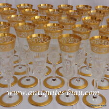 Champagne glass FLUTE in crystal Saint Louis Thistle gold in perfect condition