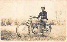 Harley Davidson Motorcycle Real Photo RPPC Postcard