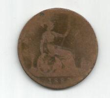 GB/UK 1883 VICTORIA  One Penny  Bun Head