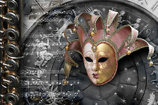 STUNNING MASQUERADE BALL PARTY MASK CANVAS PICTURE #32 WALL HANGING ART A1