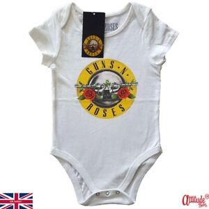 Guns N Roses Baby Grows-Official Classic-Rock Band Baby Body Suits-Rock Babygrow