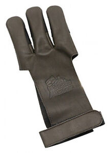 OMP Mountain Man Leather Shooting Glove - Brown X-Small