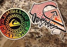 Lot Of 2 AUTHENTIC QUIKSILVER QUALITY COLORFUL SURF/SKATE STICKER