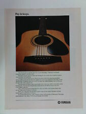 retro magazine advert 1982 YAMAHA l-20a acoustic guitar