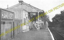 Hawkhurst Railway Station Photo. Cranbrook and Paddock Wood Line. SE&CR. (2)